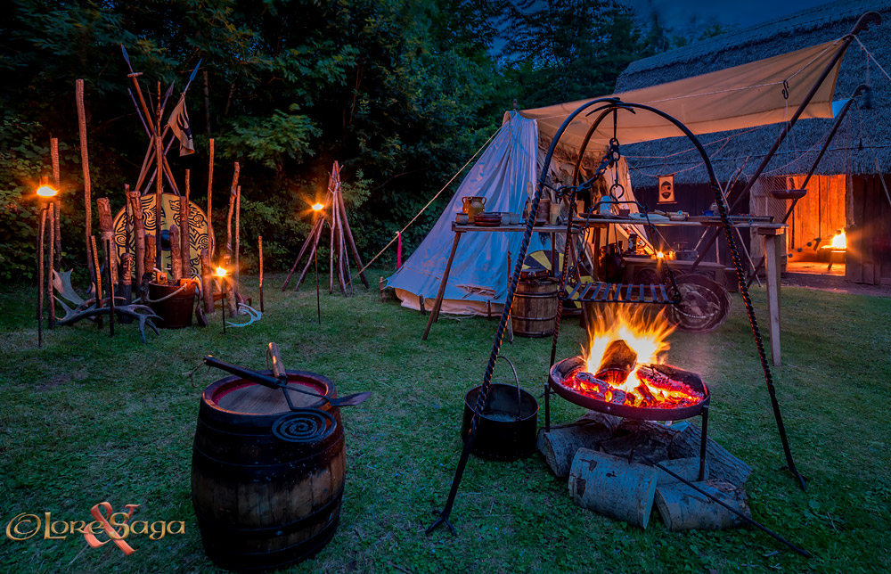 Viking Camp at Night. Image copyrighted © Gary Waidson. All rights reserved.