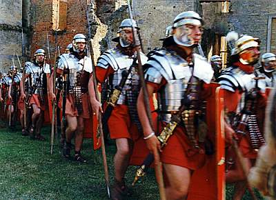 Roman Legionaries. The Legions of the Roman Army were the elite fighting force of their day.