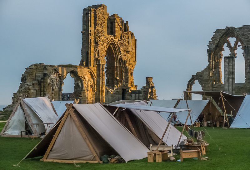A living history exhibit at Whitby Abbey