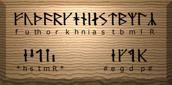 The Younger Futhork, These are the Runes that the Vikings used.