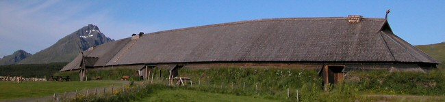 The Viking longhouse reconstruction at Borg.