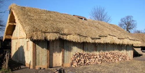 The new Viking longhouse at Danelaw Viking Village