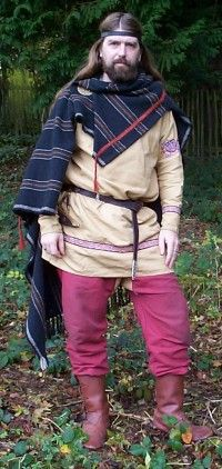 Gary Waidson in 10th century costume based upon Viking and Saxon finds of the period